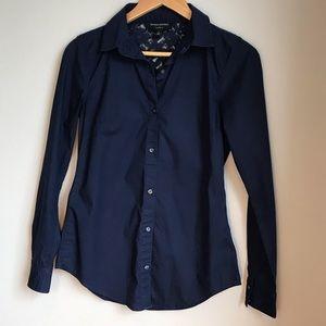 Banana Republic Blue Long Sleeve Shirt Size 2 Lace